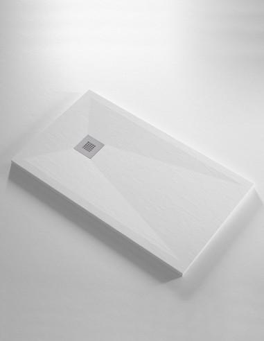 Plato de ducha resina extra plano - PREMIER blanco