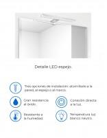 LED espejo baño detalles