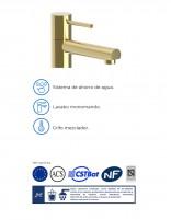 Grifo lavabo oro detalle - LAREDO de Martí