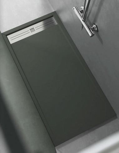 Plato de ducha de resina a medida modelo ELITE - musgo