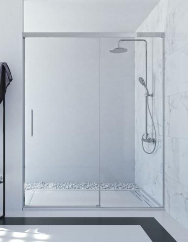 Mampara de ducha fijo más corredera modelo SIA de Seviban