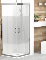 Mampara ducha rectangular 2 hojas fijas y 2 correderas de Becrisa