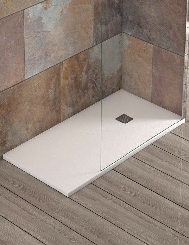 Plato ducha plano modelo IBIZA de Becrisa blanco