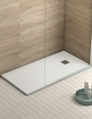 Plato ducha antideslizante modelo PALMA de Becrisa blanco