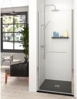 Mampara con toallero y puerta abatible modelo SICILIA de Becrisa