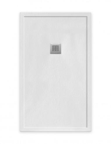 Plato de ducha textura pizarra blanco