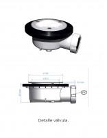 Plato de ducha textura pizarra detalle válvula