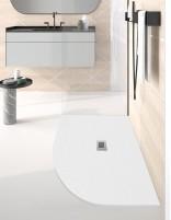 Plato ducha resina semicircular modelo QUADRANT de Oh My Shower