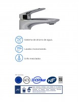 Grifo para lavabo sobre encimera detalles