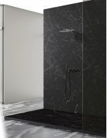 Plato de ducha marmol negro modelo MARQUINA de Oh My Shower