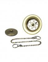 Rejilla lavabo + tapón y cadena de Martí bronce pack