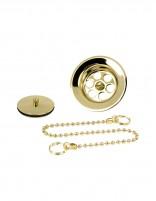 Rejilla lavabo + tapón y cadena de Martí oro pack