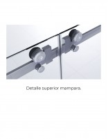 Mampara ducha 2 fijos 2 correderas detalle superior