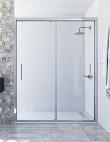 Mampara ducha corredera 2 hojas modelo PERLA de Seviban