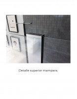 Mampara ducha fijo abatible modelo KARIMA de Seviban - detalle perfil basculante