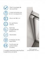 Mampara de ducha apertura angular detalle modelo columbia