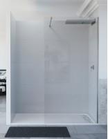 Mampara ducha aluminio modelo ARCOIRIS fija de Seviban