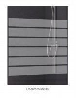 mampara baño perfil negro modelo angular 205 decorado
