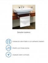 Detalle toallero mueble baño de PyP