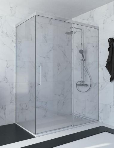 Mampara de ducha rectangular - corredera RIMO de Seviban