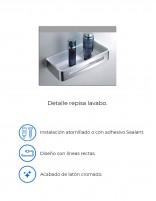 Estante para interior ducha acero inoxidable detalles