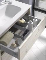 Mueble de baño con lavabo cerámico de Duplach - detalle cajón