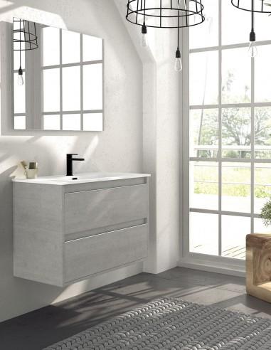 Mueble de baño osuna de 2 cajones suspendido de Duplach