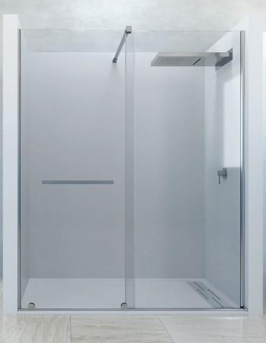 Mampara fija corredera - 1 fija y 1 puerta con toallero LIZANA de Seviban