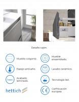 Mueble de baño modelo nasy de Duplach - detalles