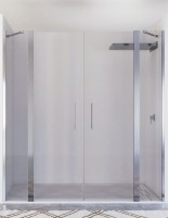 Mampara 2 puertas abatibles + 2 fijos modelo SALMA de Seviban