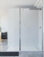 Mampara de ducha hoja fija + puerta abatible modelo TELLA de Seviban