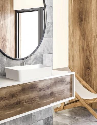 Lavabo sobre encimera rectangular modelo ATHOS de Oh My Shower