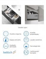 Mueble de baño modelo KULA de Duplach - detalles