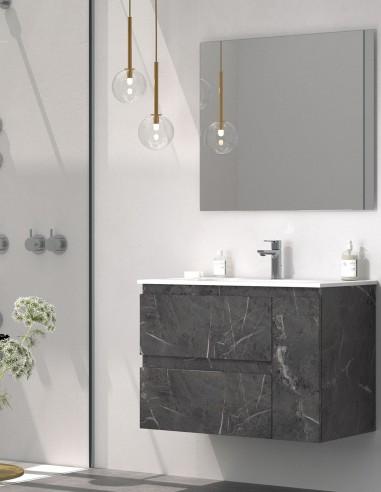 Mueble de baño marquina de 2 cajones y una puerta modelo KULA de Duplach