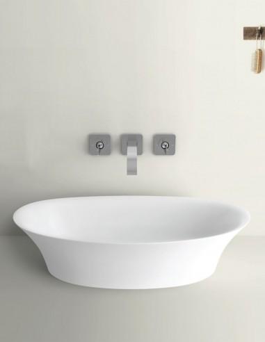 Lavabo ovalado sobre encimera modelo CLOE de Oh My Shower