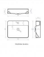 Lavabo rectangular medidas