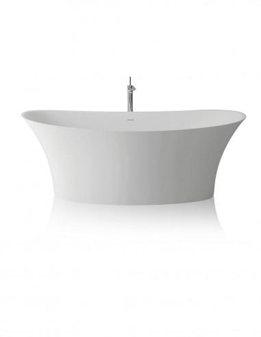 Bañera de diseño modelo SILK blanca de resina y gel coat
