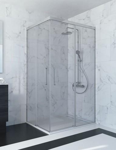 Mampara ducha esquina corredera modelo ABI de Seviban