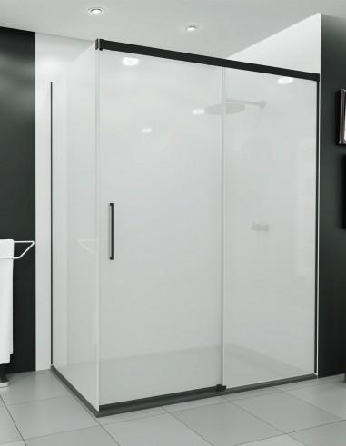 Mampara de ducha color negro modelo ESTRELLA de Seviban