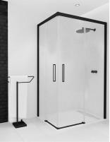 Mampara de ducha negra correderas - fijas modelo NERU de Seviban