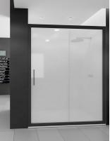 Mampara ducha fija perfil negro modelo DORA de Seviban