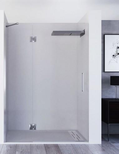 Mampara fijo más puerta abatible modelo KAIROS de Seviban