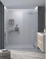 Paneles de revestimiento ducha modelo estándar Bath Plus blanco