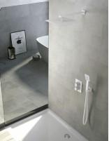 Set de ducha blanco - empotrado termostático modelo CÍES de IMEX