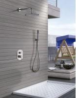 Grifo ducha empotrado modelo MOSCÚ de acero inoxidable de IMEX