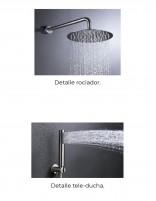 Grifo ducha empotrado modelo MOSCÚ de acero inoxidable rociadores