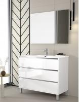 Mueble de baño con mueble auxiliar opcional lavabo y espejo de Duplach