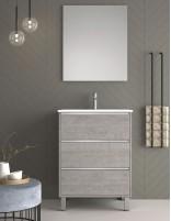Mueble de duplach con lavabo y espejo incluido y mueble auxiliar opcional modelo vesubio