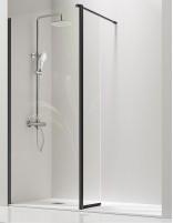 Panel de ducha fijo + hoja abatible modelo GIRO NEGRA de Kassandra