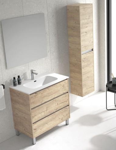 Mueble lavabo con espejo modelo VESUBIO de Duplach